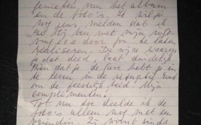 Lieve brief van klant